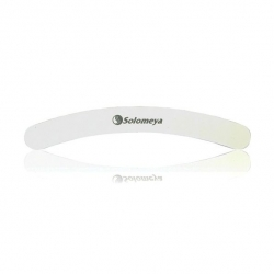 Solomeya Curved White File - Пилка для ногтей Бумеранг 180/240 грит