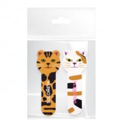 Solomeya - Набор для натуральных и искусственных ногтей: Пилка Тигренок180/220 грит и полировщик для ногтей Китти 400/3000 грит