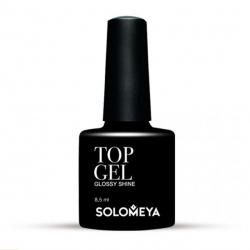 Solomeya Top Gel Glossy Shine STG - Верхнее гелевое покрытие для ногтей Блеск, 8мл