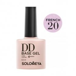 Solomeya DD Base Gel French 20 - Камуфлирующая основа 2 в 1 для классического и французского маникюра French 20, 8мл