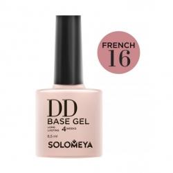 Solomeya DD Base Gel French 16 - Камуфлирующая основа 2 в 1 для классического и французского маникюра French 16, 8мл