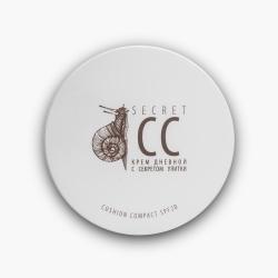 Premium HomeWork - Скини Кушон компакт SPF-20 дневной крем «secret cream c секретом улитки» 15 мл