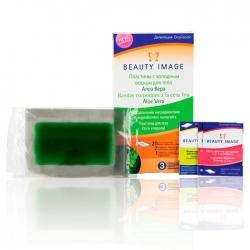 Beauty Image - Наборы для тела Алое Вера  (20 односторонних пластин + 2 салфетки цветочным маслом)