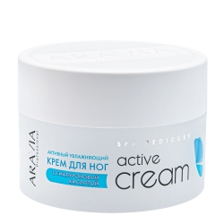 Aravia Professional Active Cream - Активный увлажняющий крем для ног с гиалуроновой кислотой Active Cream, 150 мл