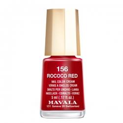 Mavala - Лак для ногтей тон 156 Чувственный красный  Rococo Red, 5 мл