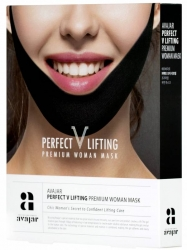 Avajar Perfect V lifting premium woman black mask - Маска лифтинговая женская, черная 5 шт