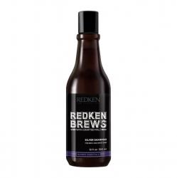Redken Brews Silver Shampoo - Шампунь для нейтрализации желтизны седых и осветлённых волос 300 мл