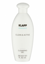 Klapp Clean&Active Cleansing Gel - Очищающий гель для жирной и комбинированной кожи, 250 мл