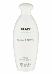 Klapp Clean&Active Tonic Without Alcohol - Тоник без спирта для любого типа кожи, 250 мл