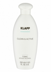 Klapp Clean&Active Tonic Without Alcohol - Тоник без спирта для любого типа кожи, 75 мл