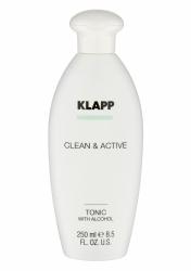 Klapp Clean&Active Tonic With Alcohol - Тоник со спиртом для жирной кожи, 250 мл