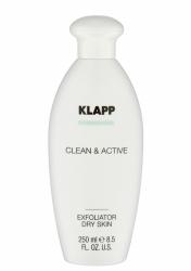 Klapp Clean&Active Exfoliator Dry Skin - Эксфолиатор для сухой кожи, 250 мл