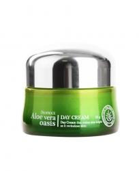 Deoproce Aloe Vera Oasis Day Cream - Крем дневной для лица с алоэ вера, 50 г