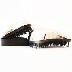 Dessata Kit Rose Gold Bright-Black - Набор Расчесок для волос: Оригинал + Мини, Розовое золото