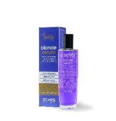 Echos Line  Seliar Blonde Serum - Cыворотка с частицами платины, аргановым маслом, маслом семени льна и УФ фильтром, 100 мл