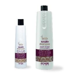 Echos Line  Seliar Keratin Shampoo - Восстанавливающий шампунь с маслом Аргании и кератином, 350 мл
