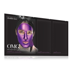 Double Dare OMG! Platinum Purple Facial Mask Kit - Маска трехкомпонентная для ухода за кожей лица фиолетовая