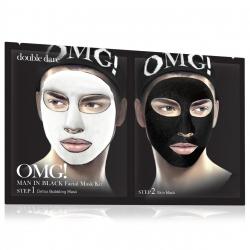 Double Dare OMG! Man In Black Facial Mask Kit - Маска мужская двухкомпонентная для ухода за кожей лица