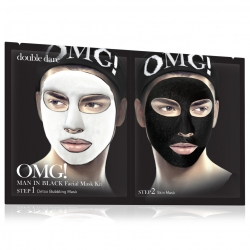 Double Dare OMG! Man In Black Facial Mask Kit - Маска мужская двухкомпонентная для ухода за кожей лица