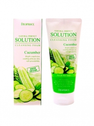 Deoproce Natural Perfect Solution Cleansing Foam Green Edition Cucumber - Пенка для умывания с огурцом, 170 г