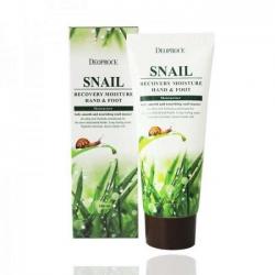 Deoproce Snail Recovery Moisture Hand & Foot -  Крем с муцином улитки для кожи рук и ног, 100 мл