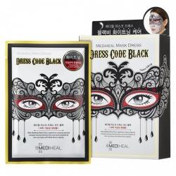 Mediheal Mask Dress Code Black - Маска тканевая для лица с экстрактом жемчуга, 27 мл