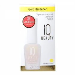IQ Beauty Gold Hardener - Укрепитель ногтей с золотой пылью, 12,5 мл