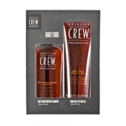 American Crew - Подарочный набор АС дэйли шампунь 250+ Гель для волос сил фиксации 250 мл
