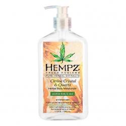 Hempz Fresh Fusion Citrine Crystal & Quartz Body Moisturizer - Молочко увлажняющее для тела с мерцающим эффектом Желтый Кварц 500мл