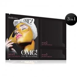 Double Dare OMG! KIT Peel Off Mask - Маска трехкомпонентная для обновления кожи лица, 3+1 шт