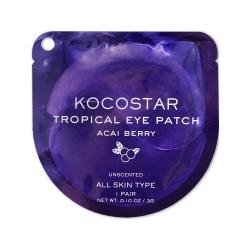 Kocostar Tropical Eye Patch (Acai Berry) Single - Гидрогелевые патчи для глаз Тропические фрукты, Ягоды Асаи (2 патча/1 пара) 3г