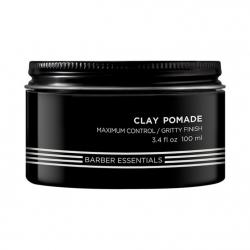 Redken Brews Clay Pomade - Помада на основе глины для создания естественных, слегка небрежных укладок. Сильная фиксация, 100 мл