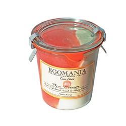 Egomania Exfoliation and body cream ( cream) Strawberries - Пилинг и Крем для тела (Мороженое) Клубника 290 мл