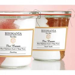 Egomania Exfoliation and body cream (cream) Warm PecanПилинг и Крем для тела (Мороженое)  Теплый Пекан 290 мл
