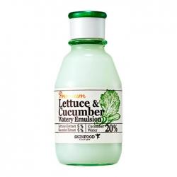 Skinfood Premium Lettuce & Cucumber Watery Emulsion - Эмульсия для лица с экстрактом огурца и салата латука, 140 мл