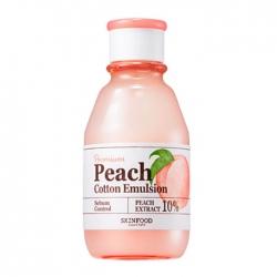Skinfood Premium Peach Cotton Emulsion - Эмульсия для лица Увлажняющая с экстрактом персика, 140 мл