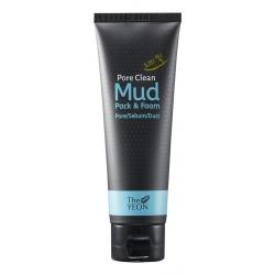 The YEON Pore Clean Mud Pack & Foam - Маска-пенка с каолином для очищения пор, 120 мл