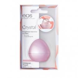 Eos Crystal Hibiscus Peach- Бальзам для губ персик (в картонной коробке), 7 гр