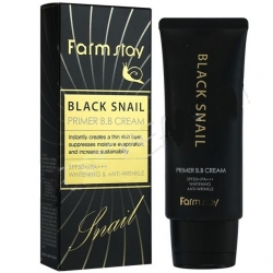 Farm StayBlack Snail Primer B.B Cream SPF50+/PA+++ -  Крем ББ с муцином черной улитки, 50 гр