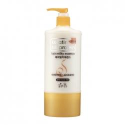 Flor de Man with Flowers Keratin Silkprotein Hair Milky Essence - Эссенция с протеинами для интенсивного питания волос, 500 мл
