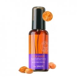 The Saem Silk Hair Argan Coating Essence - Эссенция с маслом арганы для восстановления поврежденных и ослабших волос, 80 мл
