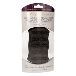 The Konjac Sponge Company Konjac & Loofah Mix Charcoal Body Sponge - Спонж для тела с порошком люфы с доевесным углем