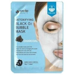 Eyenlip Detoxifying Black O2 Bubble Mask Charcoal - Маска тканевая кислородная с древесным углем, 20 гр