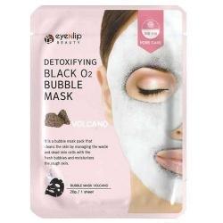 Eyenlip Detoxifying Black O2 Bubble Mask Volcano - Маска тканевая кислородная с вулканической глиной, 20 гр
