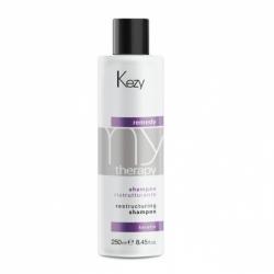 Kezy Restructuring shampoo - Шампунь реструктурирующий с кератином, 1000 мл