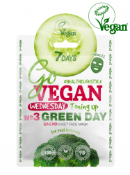 7 Days GO VEGAN Wednesday GREEN DAY - Тканевая salad маска для лица Для настоящих зайчиков 25 г