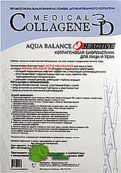 Medical Collagene 3D Aqua Balance N-Active - Коллагеновая биопластина для лица и тела с гиалуроновой кислотой, 1 шт