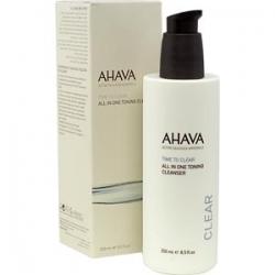 Ahava Time To Clear All In One Toning Cleanser - Тонизирующее очищающее средство, все в одном, 250 мл
