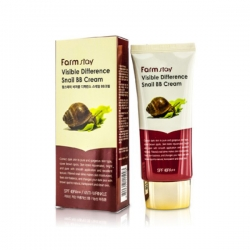 FarmStay Visible Difference Snail BB Cream SPF50+/PA+++ - Крем ББ с муцином улитки, 50 гр