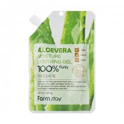 FarmStay Moisture Soothing Gel Aloevera - Гель увлажняющий для лица и тела  с экстрактом алое, 100 мл